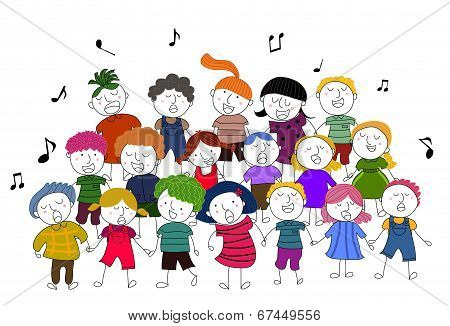 children choir singing