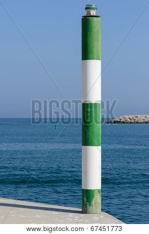 Pole on the pier