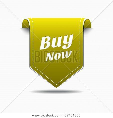Buy Now Yellow Label Icon Vector Design