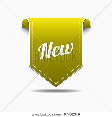 New Yellow Label Icon Vector Design