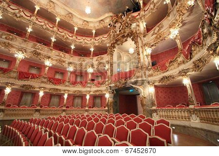 Baroque opera house of Munich Palace