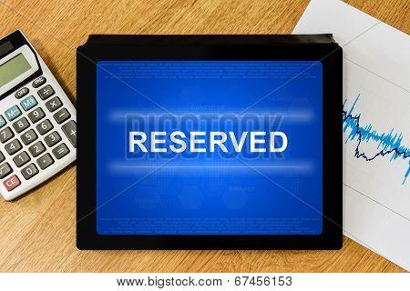 Reserved Word On Digital Tablet