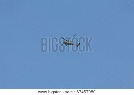 Military Helicopter Under Blue Sky