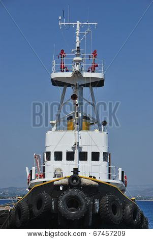 Tugboat Moored