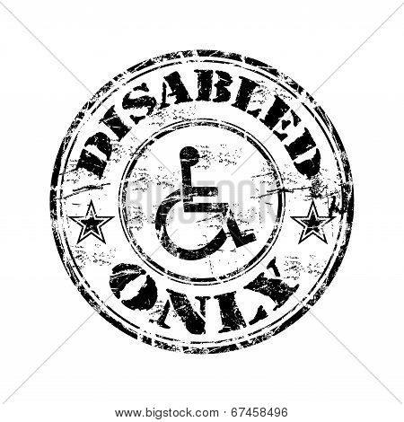 Disabled only grunge rubber stamp