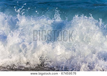Wave at the line of a sea surf