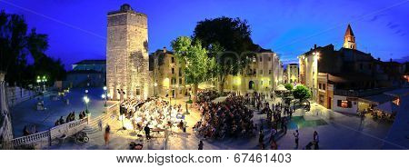 Zadar, Croatia - June 14 - Five Wells Square In Zadar, Croatia - Open Air Carmina Burana Performance