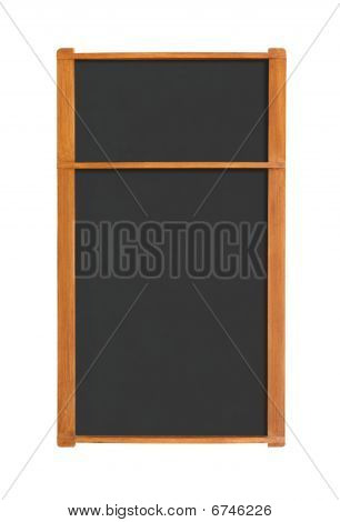 Blank Menu Chalkboard With Two Sections Cutout