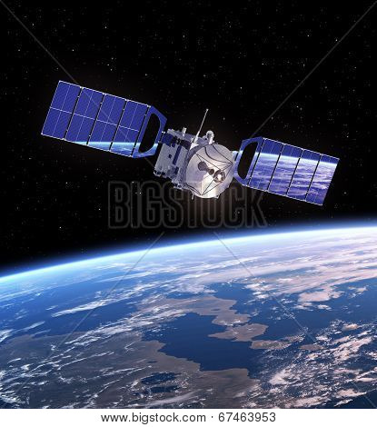 Satellite In Space.