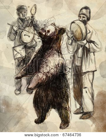 Digital Painting: Dancing Bear