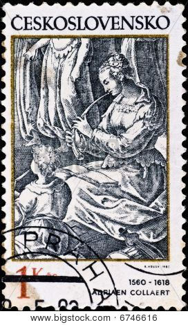 Postage Stamp Shows Engraving Of Adriaen Collaert