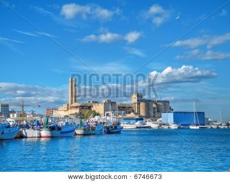 Landscape seaport. Monopoli. Apulia.