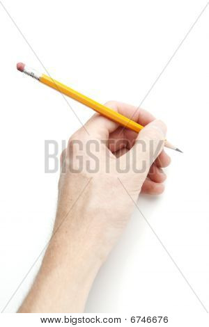 Hand Holding Pencil
