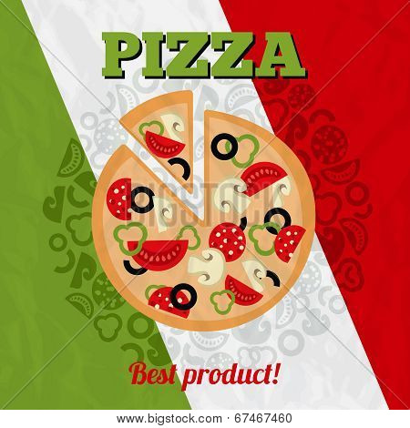 Italy pizza poster