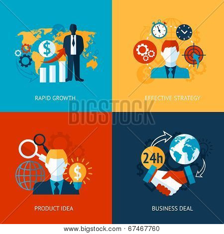 Business and management set