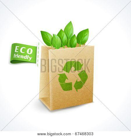 Ecology symbol paper bag