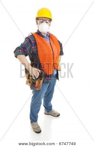 Safe Female Construction Worker