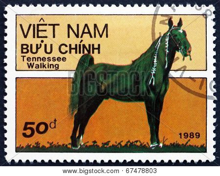 Postage Stamp Vietnam 1989 Tennessee Walking Horse