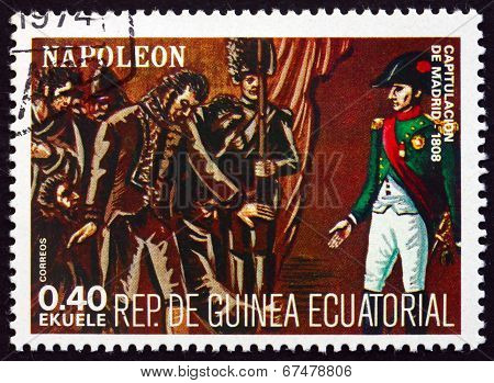 Postage Stamp Equatorial Guinea 1972 Napoleon Bonaparte In Spain