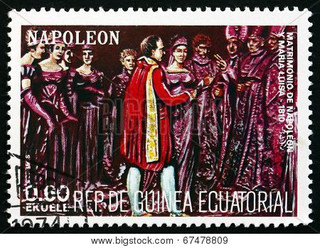 Postage Stamp Equatorial Guinea 1972 Wedding Of Napoleon And Mar