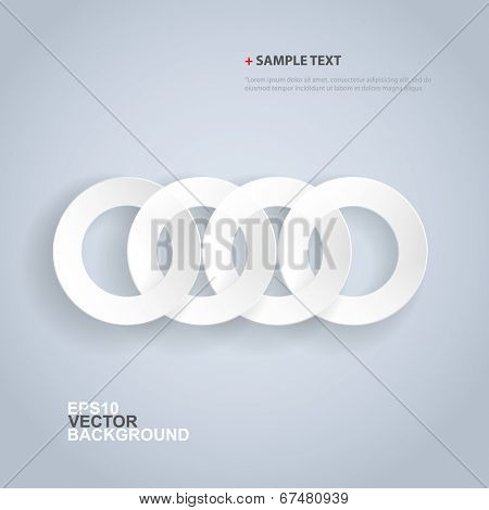 Papercut Rings Background Design