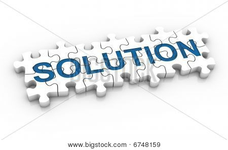 Jigsaw Puzzle Solution Word
