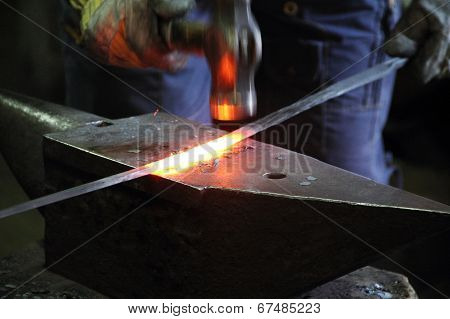 Blacksmith In A Forge