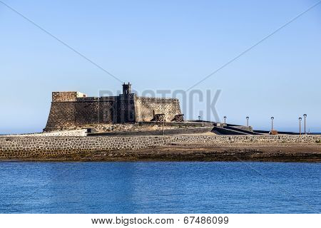 Castle Castillo De San Gabriel In Arrecife, Lanzarote, Canary Islands