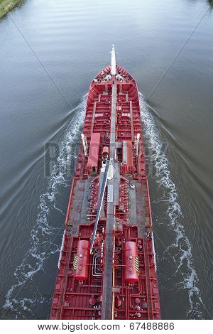 Beldorf - Tanker At Kiel Canal