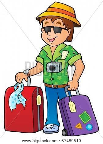 Travel thematics image 1 - eps10 vector illustration.