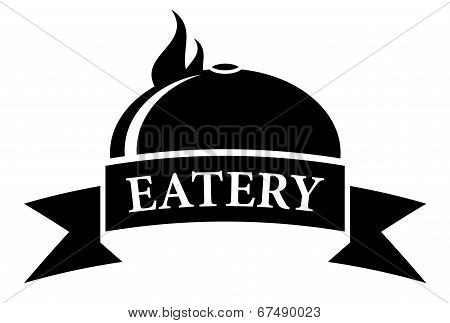 food eatery icon with hot dish