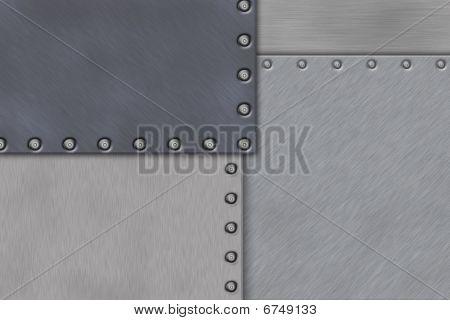 Rivets In Brushed Steel