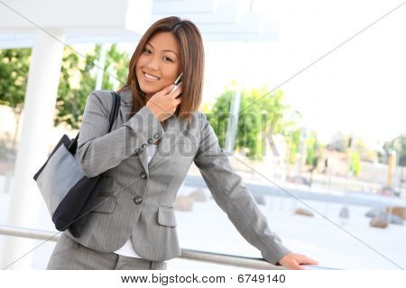 Cute Asian Business Woman
