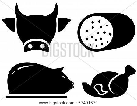 set food icon for meat production