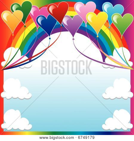 Heart Balloon Background