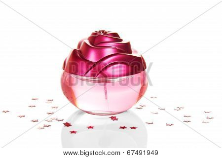 Perfume for women decorated with asterisks
