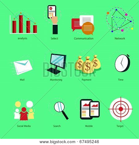 Web Icon Set Vector Illustration