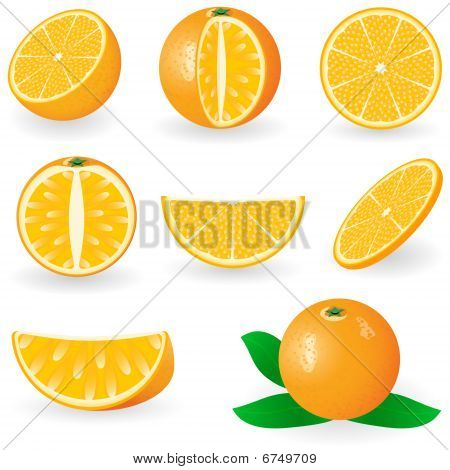 Icon Set Oranges