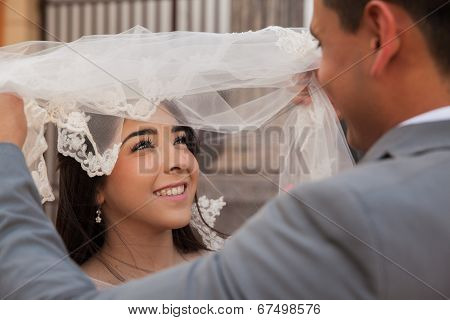 Looking At My Beautiful Bride