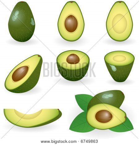Icon set avocado