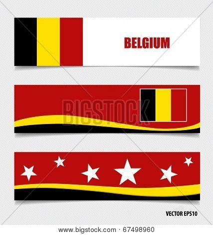 Belgium, Flags concept design. Vector illustration.