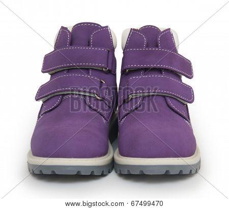 Purple Children`s Boots