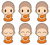 picture of buddhist  - Buddhist Monk illustration Expression - JPG