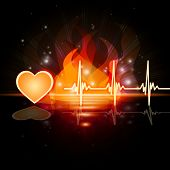 picture of heartbeat  - Heart Heartbeat Representing Valentines Day And Heartbeats - JPG