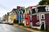 foto of row houses  - Street with colorful houses in St - JPG