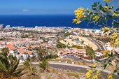 image of canary-islands  - picturesque outstanding landscape of beautiful resort playa de las americas on tenerife - JPG