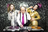 pic of grandpa  - amazing grandpa DJ and his two beauitful gogo dancers - JPG