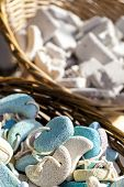 picture of pumice stone  - Pumice stone suvenirs from Kos island Greece - JPG