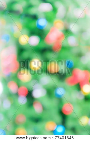 Abstract Blurry Christmas Background
