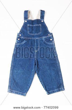 Children's denim overalls